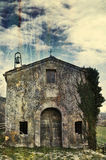 gammalt kyrkligt land Royaltyfri Fotografi