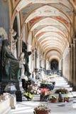 Gammalt kyrkogårdgalleri fotografering för bildbyråer