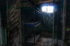 Gammalt läskigt fängelse Arkivbilder