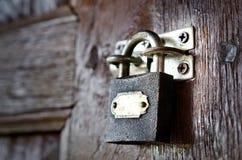 Gammalt lås Fotografering för Bildbyråer