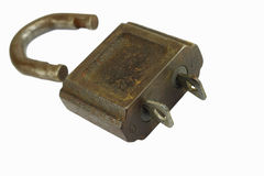 Gammalt lås, dubbel säkerhet Royaltyfri Fotografi