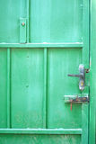 Gammalt lås på porten Royaltyfri Fotografi