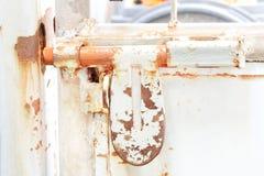 gammalt låsa på dörren Fotografering för Bildbyråer