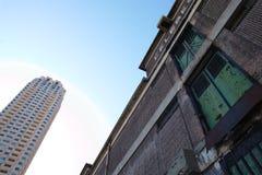 Gammalt lager i Rotterdam Arkivfoto