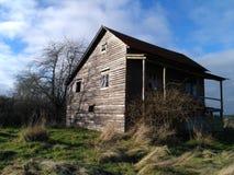 gammalt landshus Fotografering för Bildbyråer