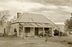 gammalt lantbrukarhem Arkivbild