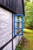 Gammalt lantgårdfönster Royaltyfria Bilder