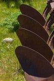 Gammalt lantgårdhjälpmedel Arkivbild