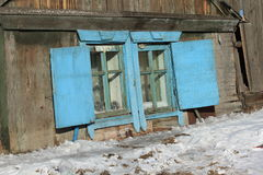 Gammalt lantligt fönster Royaltyfri Bild