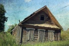 gammalt lantligt för hus Royaltyfri Fotografi