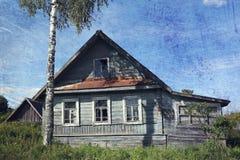 gammalt lantligt för hus Arkivbild