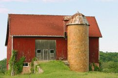 gammalt lantligt för lantbrukarhem Arkivbilder