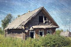 gammalt lantligt för hus Arkivbilder