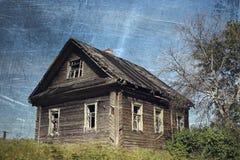 gammalt lantligt för hus Royaltyfri Foto