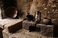 gammalt lantligt lantligt traditionellt för kök Fotografering för Bildbyråer