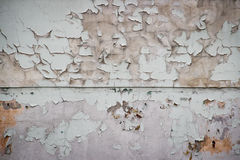 Gammalt måla smutsar ner väggen. Arkivbilder