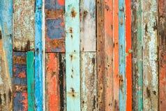 gammalt målat trä Arkivfoto