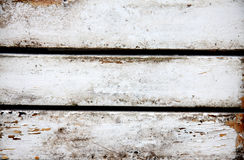 gammalt målat vitt trä Arkivbilder