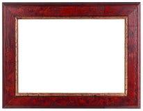 Gammalt mörker - röda trä inramar Royaltyfri Foto