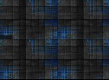 Gammalt mörkt trä med blått som målas, i fyrkantiga modeller fotografering för bildbyråer