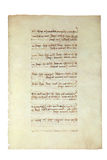 gammalt manuskript Arkivfoto