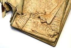 gammalt manuskript arkivbilder