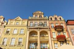 Gammalt marknadsföra kvadrerar. Poznan. Polen Royaltyfri Foto