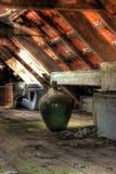 Gammalt material i loft Royaltyfri Fotografi
