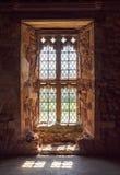Gammalt medeltida fönster Royaltyfri Foto