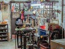 Gammalt mekaniskt seminarium i George Town, Penang, Malaysia arkivbild