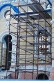 Gammalt metallmaterial till byggnadsställning Arkivfoton
