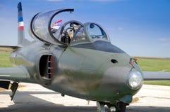 Gammalt militärt flygplan Royaltyfria Bilder