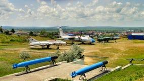 Gammalt militärt flygplan av USSR Royaltyfria Bilder