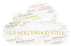 Gammalt moln för Hollywood stilord stock illustrationer