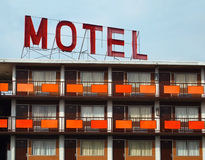 gammalt motell Fotografering för Bildbyråer