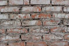 Gammalt murverk med skalningsmålarfärg royaltyfri bild