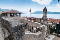 Gammalt museum i Herceg Novy, Montenegro Arkivbild