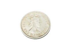 Gammalt mynt av Hong Kong 1960 Arkivfoto