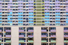 Gammalt offentligt bostads- gods i Hong Kong Arkivbild