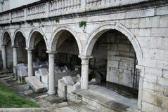 Gammalt offentligt washhus, Ascoli Piceno Arkivfoto