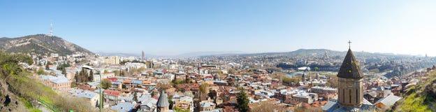Gammalt område Tbilisi, bästa sikt Fotografering för Bildbyråer
