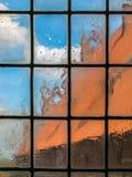 Gammalt oskarpt glass fönster Royaltyfri Fotografi