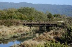 gammalt over vatten för bro Arkivfoto