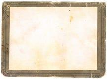gammalt paper foto Arkivfoto