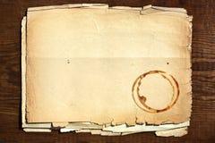 gammalt paper trä Royaltyfri Bild