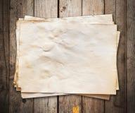 gammalt paper trä för bakgrund Royaltyfri Fotografi