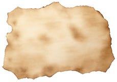gammalt papper brännt ark Arkivbilder