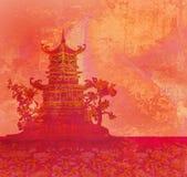 gammalt papper för asiatisk liggande Royaltyfria Foton