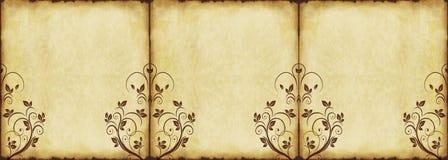 gammalt papper för bakgrund Royaltyfria Foton