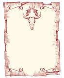 gammalt papper för bakgrundscowboy Royaltyfri Fotografi